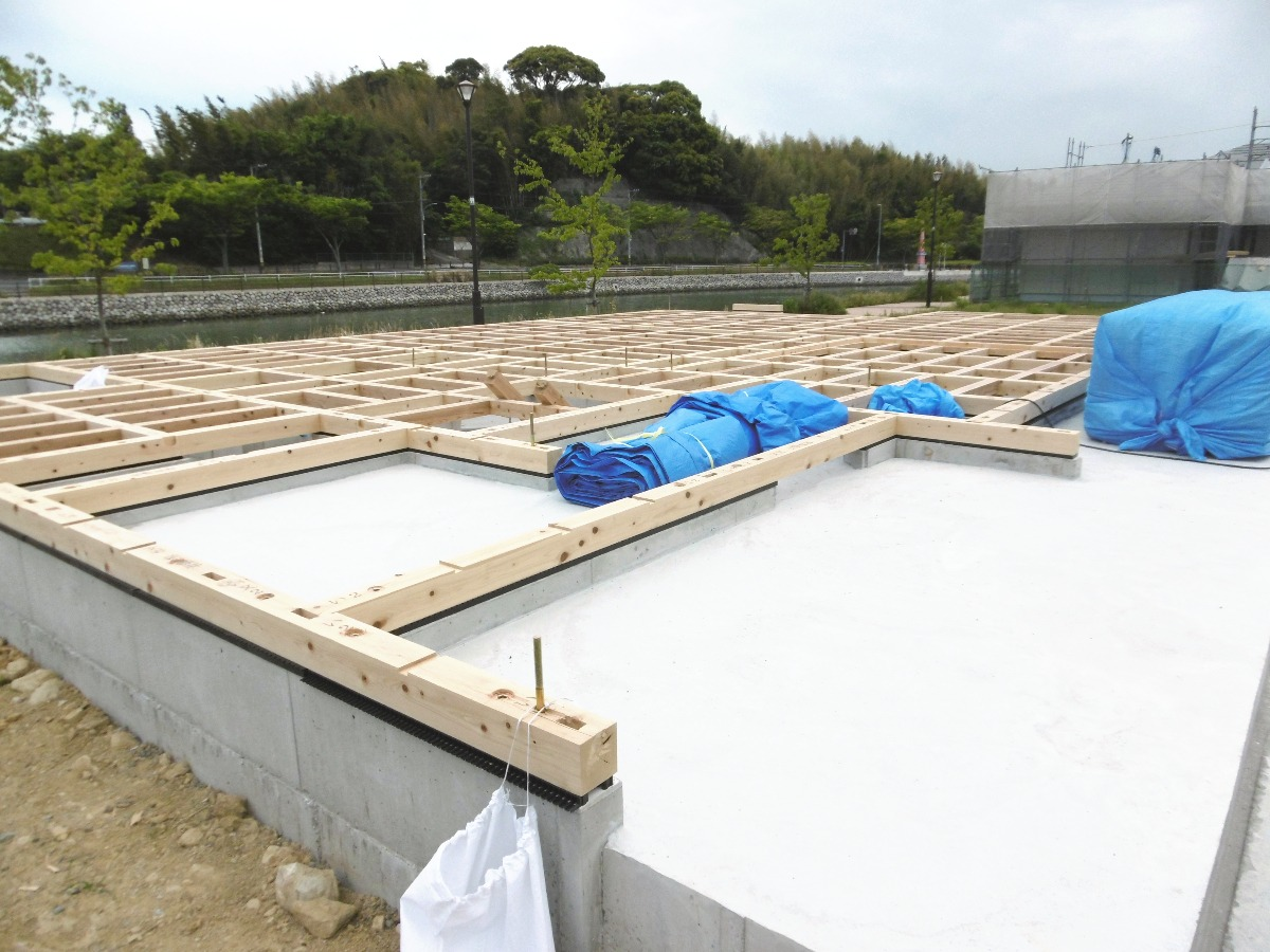 新築工事土台②